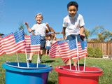 ~ 4th of July Party Ideas ~  This 4th of July, celebrate your freedom to plan a star-spangled party, with one of these patriotic party decorations or All-American games.