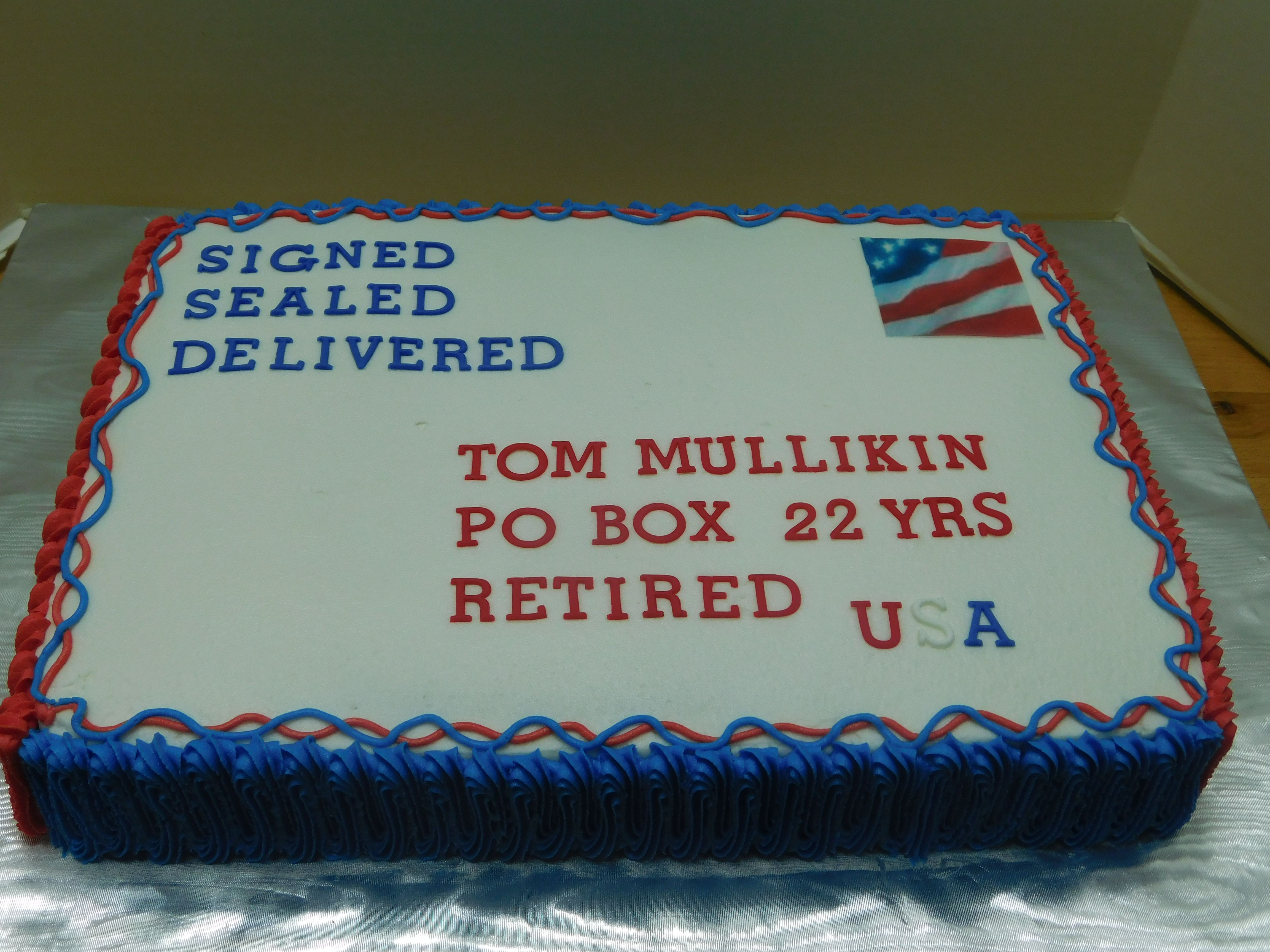 Retirement Cake Post Office Post Man With Images