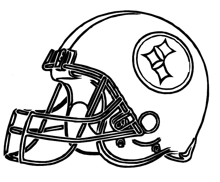 Pictures Football Helmet Steelers Pittsburgh Coloring Pages | Camp ...