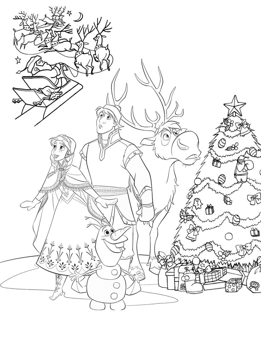 Frozen Christmas Coloring Pages Frozen Christmas Coloring
