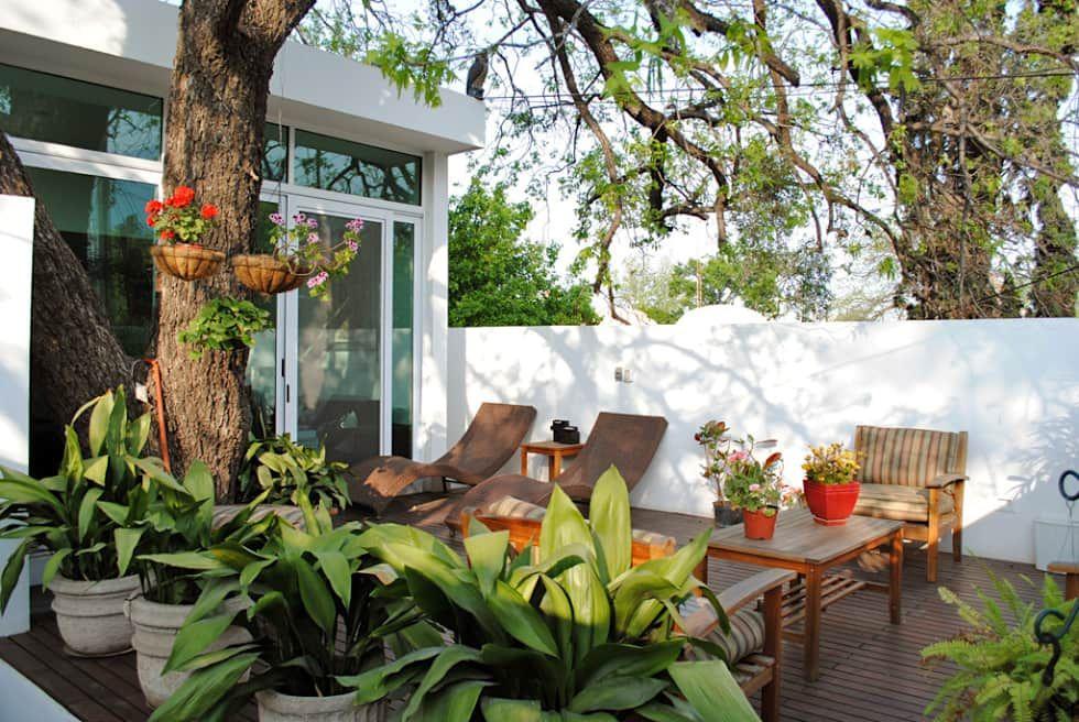 Terraza Balcones Y Terrazas Tropicales De Cortes Arquitectos Tropical Homify Decoracion De Exteriores Diseno De Terraza Patios