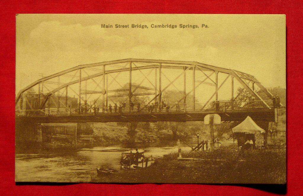 Cambridge Springs, PA - MAin Street Bridge - 1913
