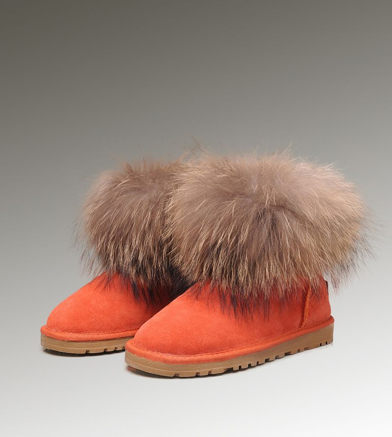 f7ff1be203c UGG Mini Fox Fur 5854 Orange Boots | Cheap Ugg Fox Fur Boots | Ugg ...