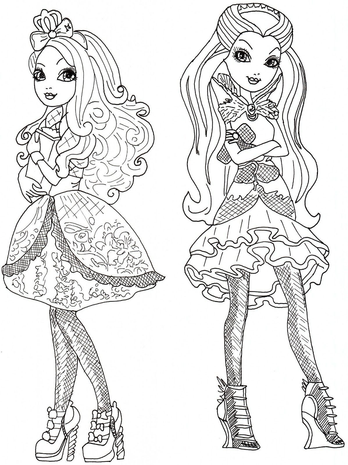 Ever After High Raven Queen Coloring Pages Apple White And Raven Queen Free Coloring Page Raven Queen Coloring Pages Free Coloring Pages