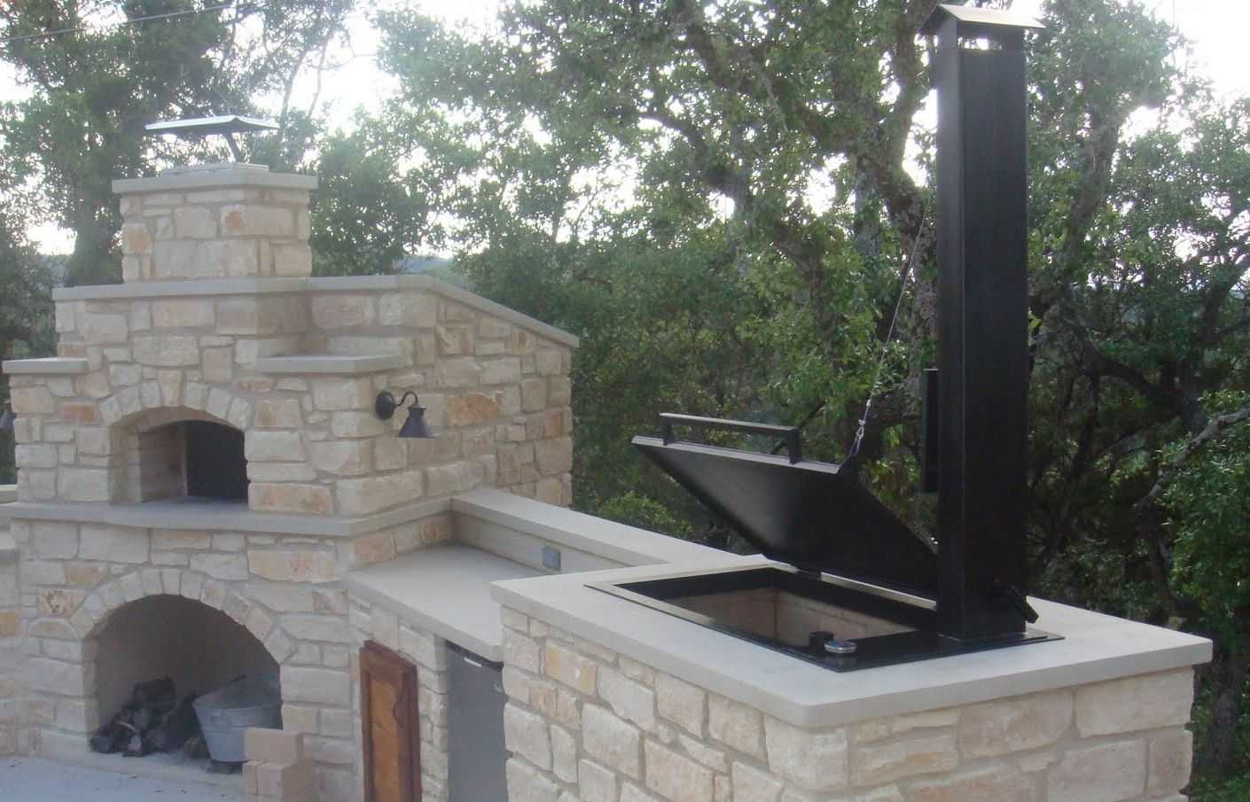 Image Result For Outdoor Kitchen Smoker Designs With Images Backyard Kitchen Brick Smoker Backyard Bbq Pit