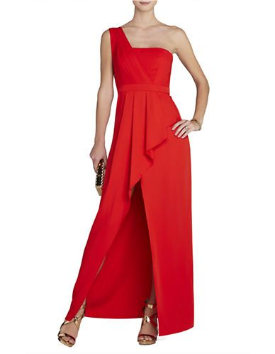ee4617db8f46 Women's Apparel | Dresses | Kristine One-Shoulder Peplum Gown | Lord and  Taylor