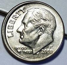 Vintage Collectible Coin 2000 D Roosevelt Dime Error Coin
