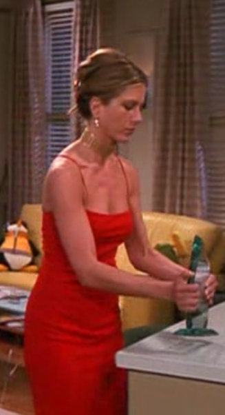Image result for rachel green red dress