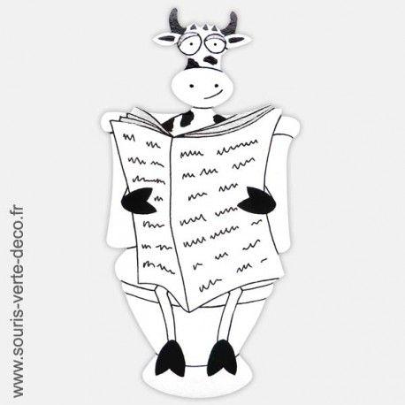 Plaque de porte de toilettes vache noire et blanche for Porte wc dessin