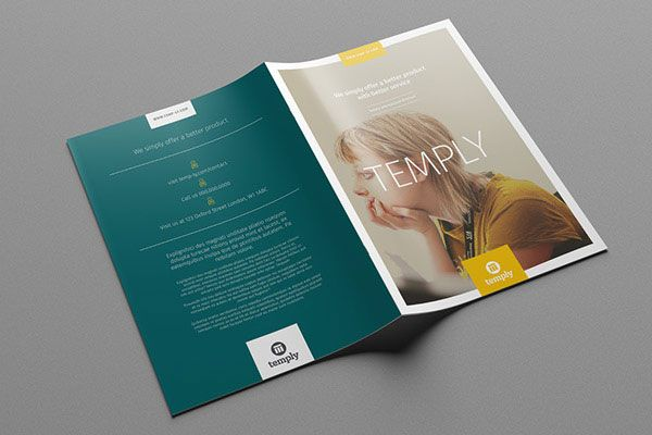 35+ Beautiful Modern Brochure \ Folder Design Ideas 2014 - hotel brochure template