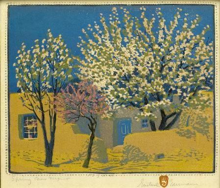 Gustave Baumann  Spring, New Mexico  circa 1920. Yes again.