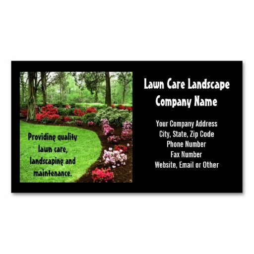 Plush Green Landscape Lawn Care Business Business Card Templates