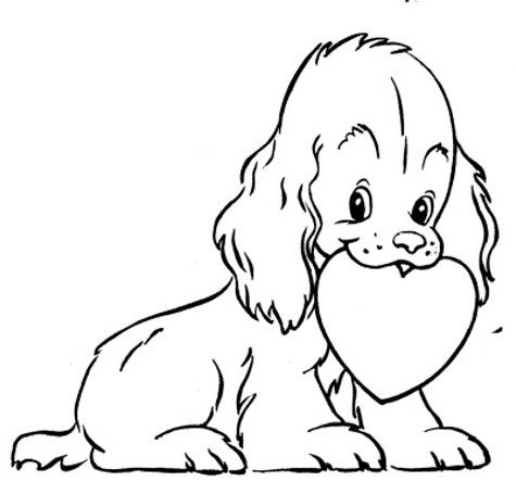 Valentines Day Free Craft Patterns Page 2 Printable Valentines Coloring Pages Puppy Coloring Pages Dog Coloring Page