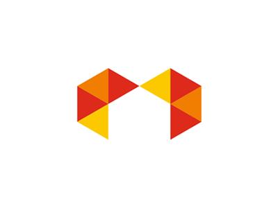 Myhouse Logo M Letter Heart Shape House In Negative Space Identity Design Logo Real Estate Logo Design Logo Shapes