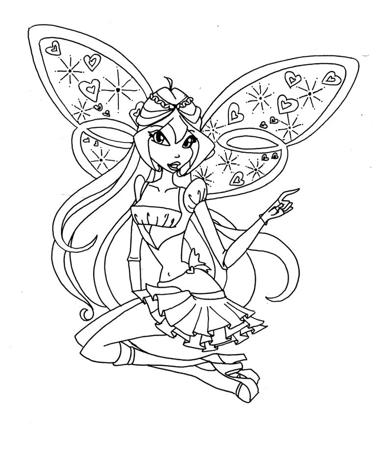 Believix Winx Club Coloring Pages