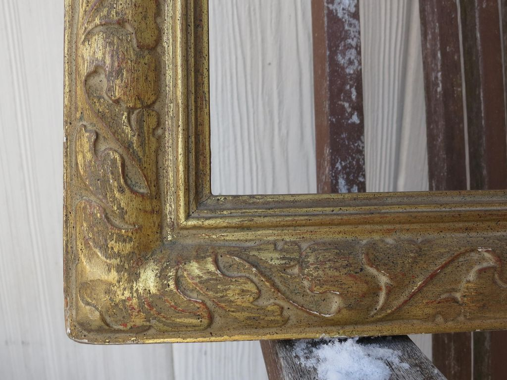 1940 Excellent NEWCOMB MACKLIN Speckled Gilded Carved Painting 25 x ...