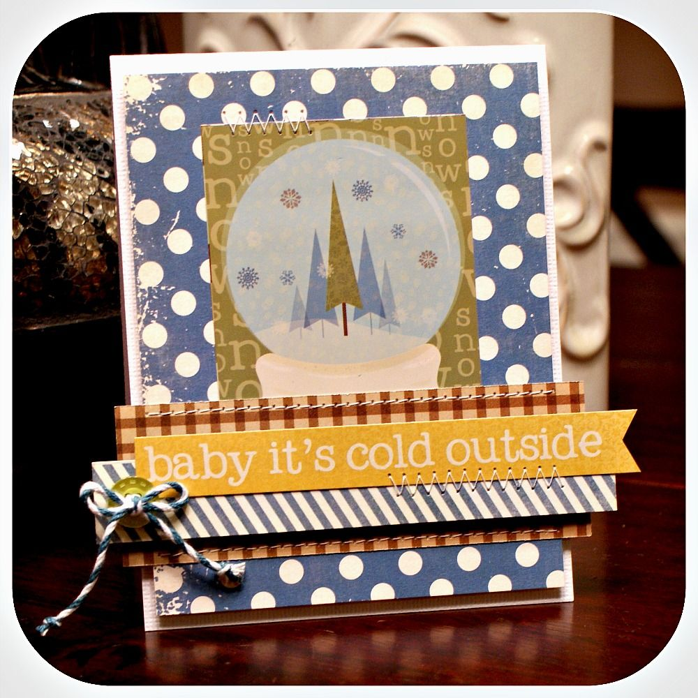 Hi everyone!!   I have a card up over at the My Scraps and More blog :     I made this card using the fabulous Baby It's Cold Outside Janua...