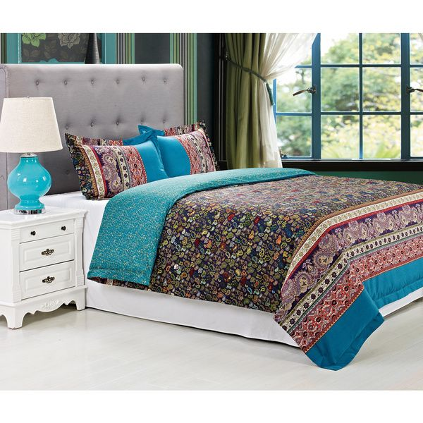 Rosewood Cotton 300 Thread Count 3-piece Duvet Cover Set - Overstock™ Shopping - Great Deals on Duvet Covers