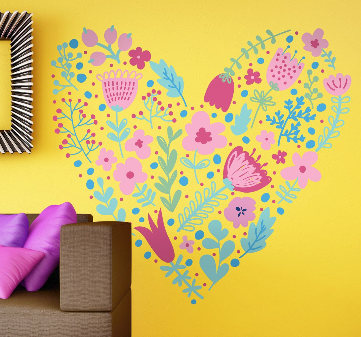 Lovely design of a heart made out of flowers. Find more flowe ...