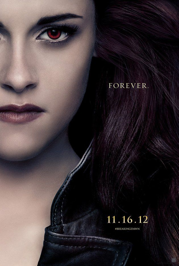 In A New Set Of Twilight Character Posters Kristen Stewart Appears With Red Eyes As Bella Now A Newborn Vampire