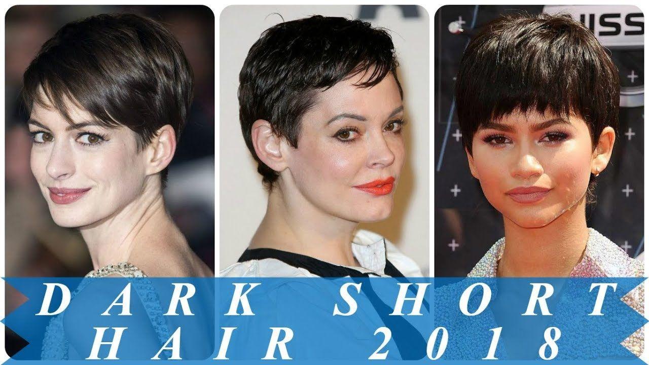 34 Chic Short Hairstyle For Dark Hair Short Hairstyles Short