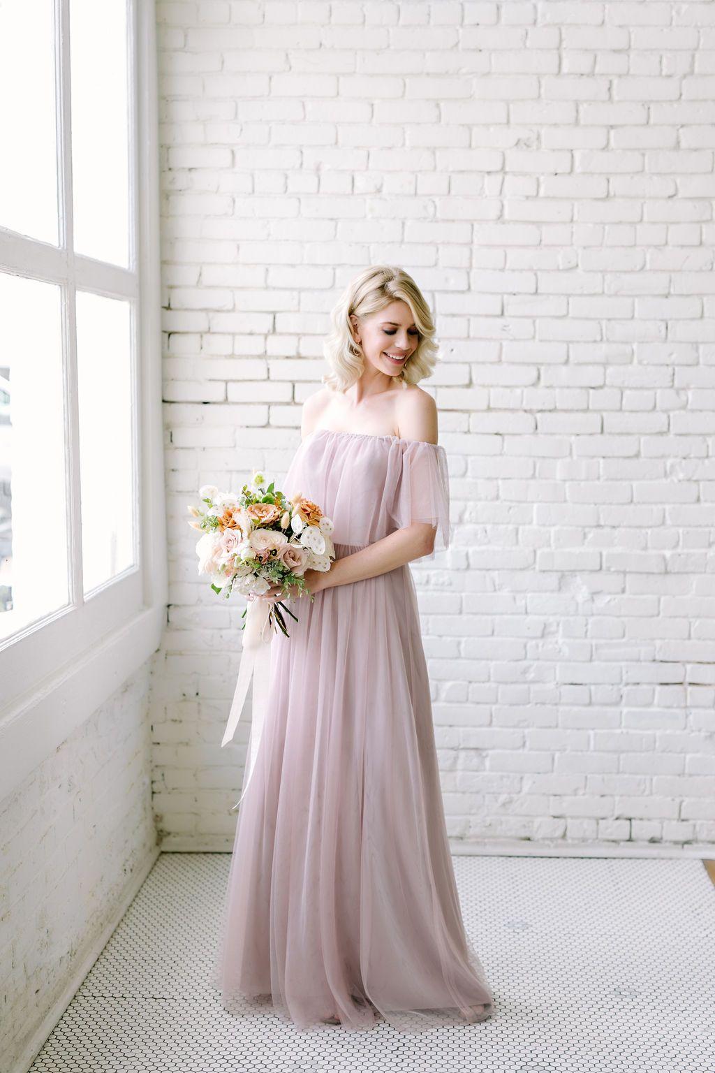 Abigail Tulle Dress In 2020 Bridesmaid Dresses Boho Bridesmaid Dresses Tulle Bridesmaid Dress