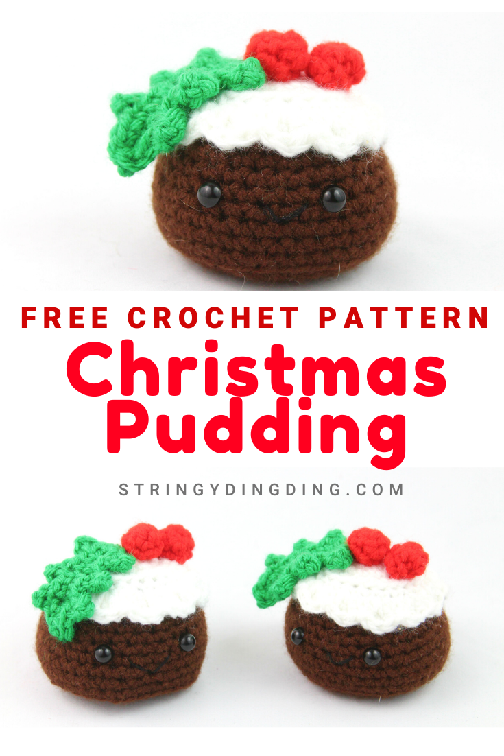 Christmas Pudding - Free Amigurumi Crochet Pattern #crochetgiraffepattern