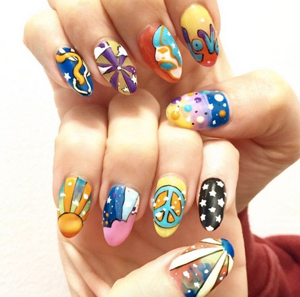 44 Gorgeous Festival Nail Art Designs
