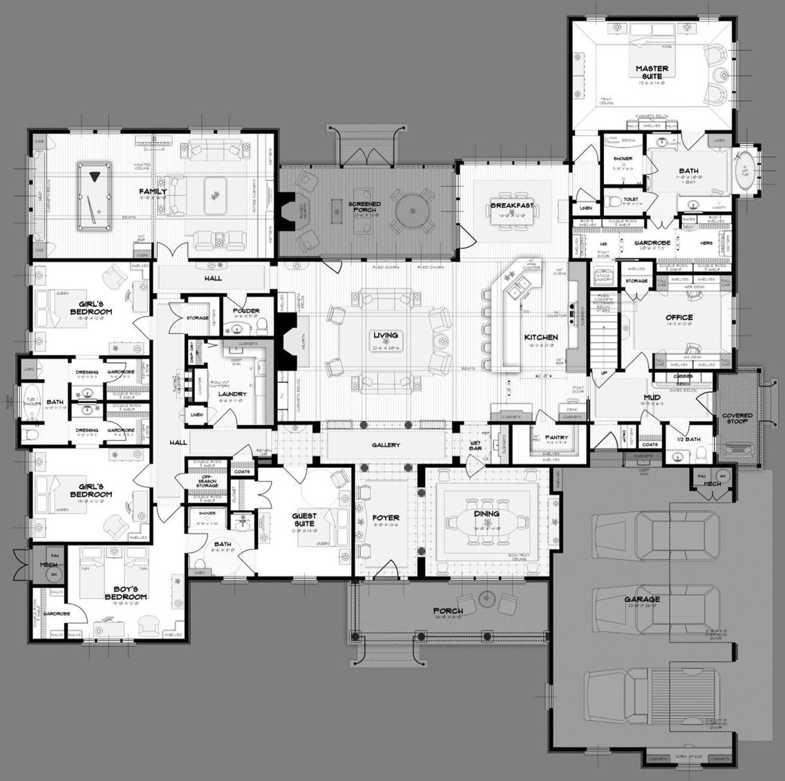 Great House Plan 5 Bedroom House Plans House Plans House Floor Plans