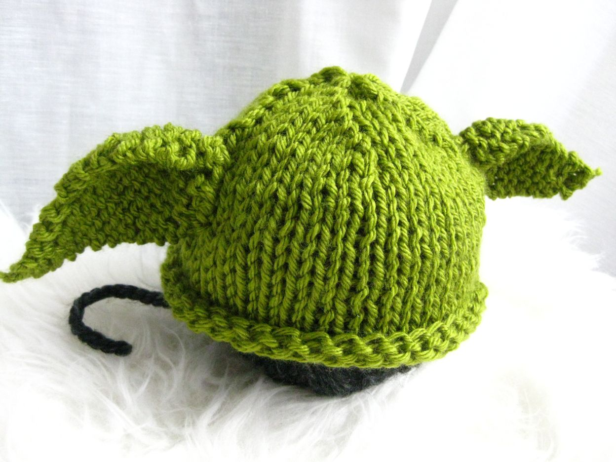 Baby Yoda Knit Hat With Free Pattern Knitted Hat Free Pattern