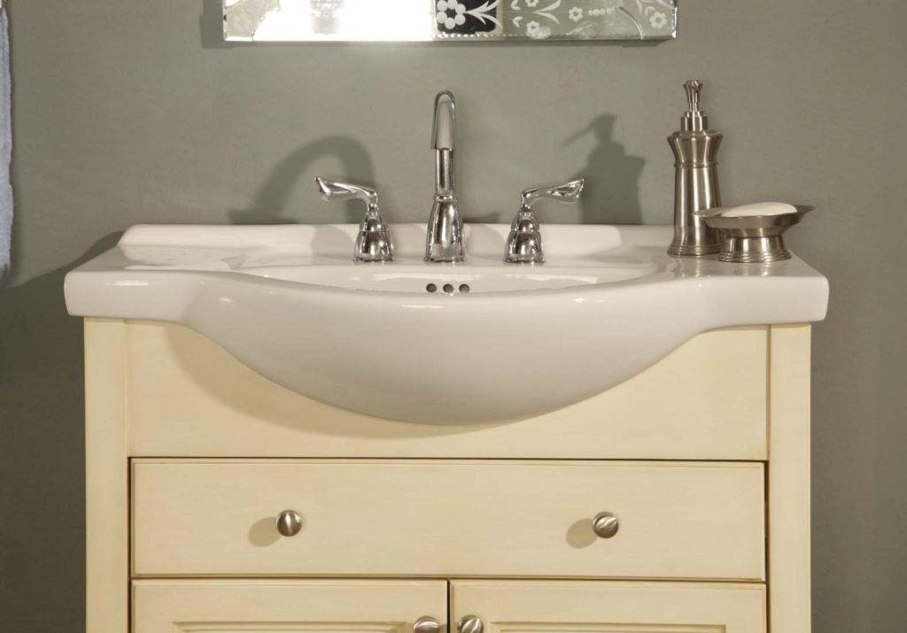 Narrow Depth Bathroom Double Vanity With Images Bathroom Sink