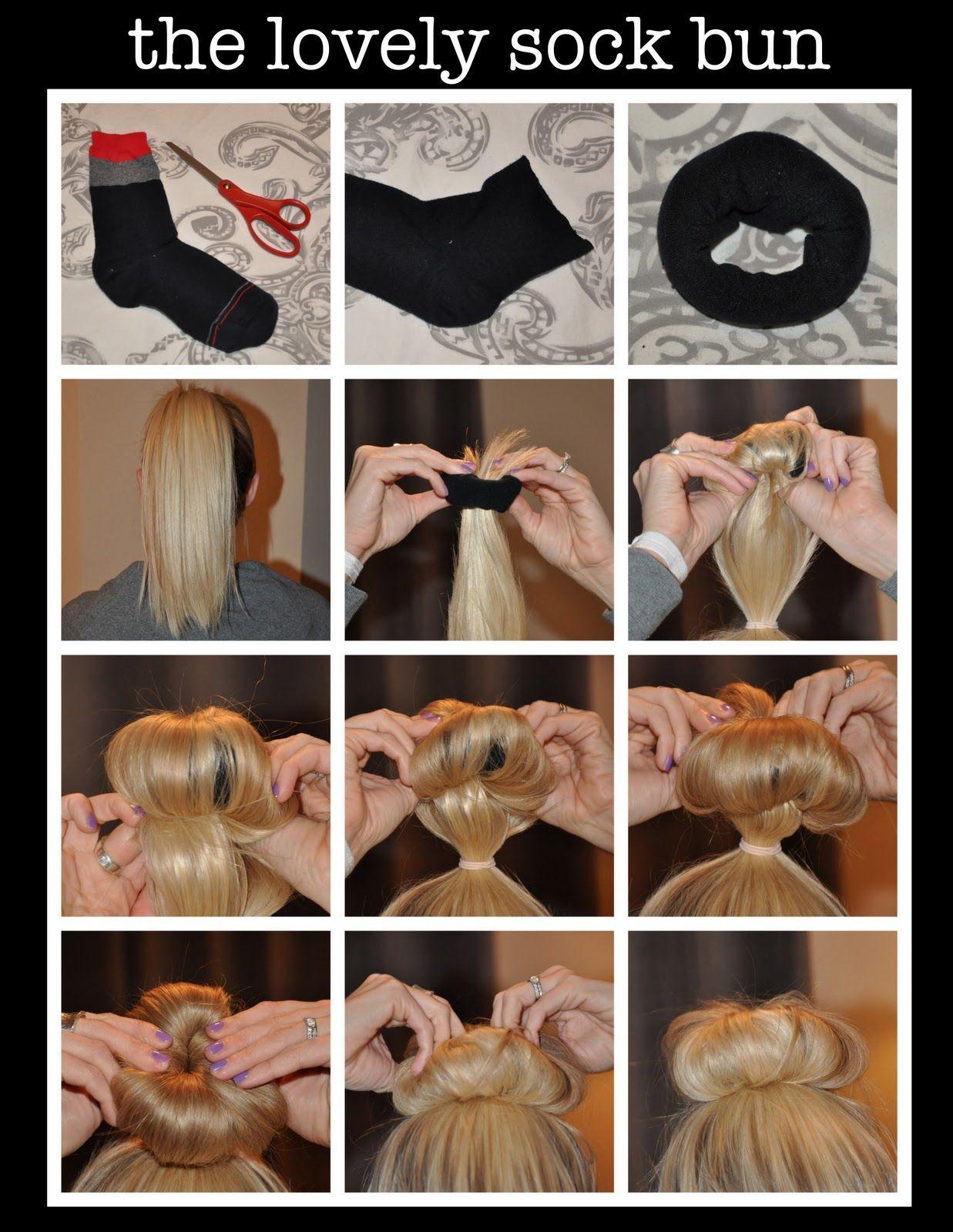 The Sock Bun Basically Using A Homemade Hair Donut Hair