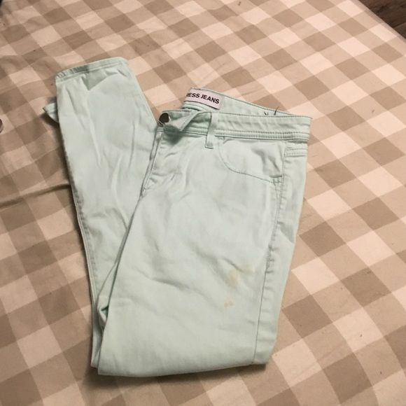 Mint express pants mint express crop pants, small stain on front Express Pants Ankle & Cropped