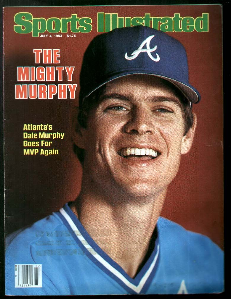 Dale Murphy Atlanta Braves Sports Illustrated Cover Mighty Murph Mvp Dalemurphy Atlantabraves Mvp Atlanta Braves Atlanta Braves Baseball Braves