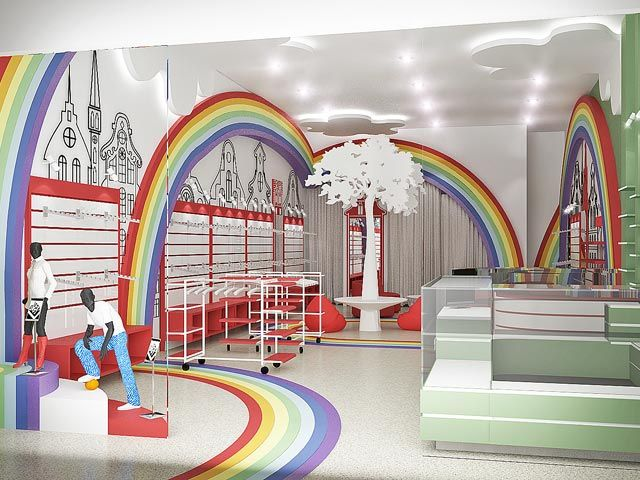 Interior design children s clothing store ideas for Baby shop decoration ideas