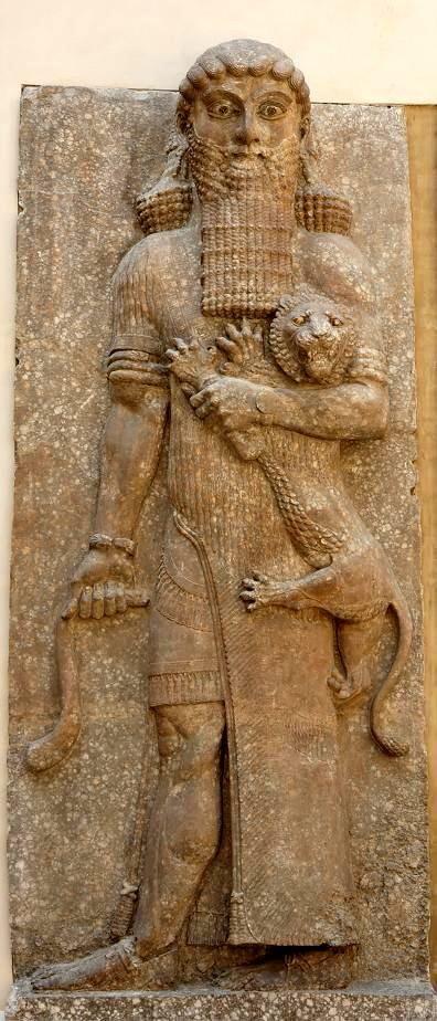 Detalle del relieve con representación de la derrota de los elamitas, palacio de Senaquerib en Nínive, VIII-VII aC
