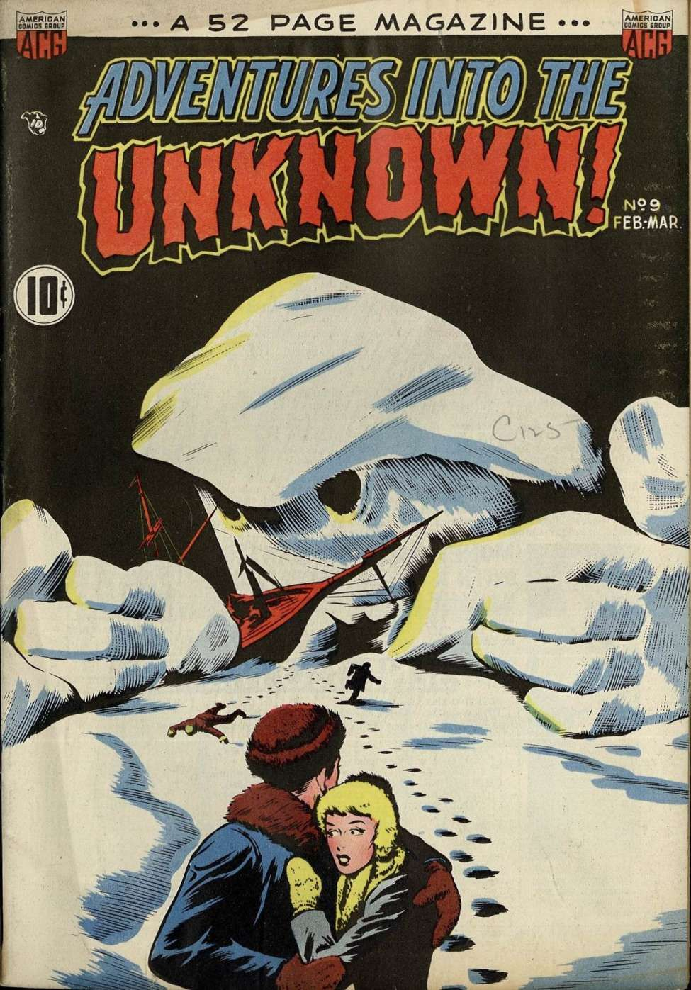 Comic book cover for adventures into the unknown 9