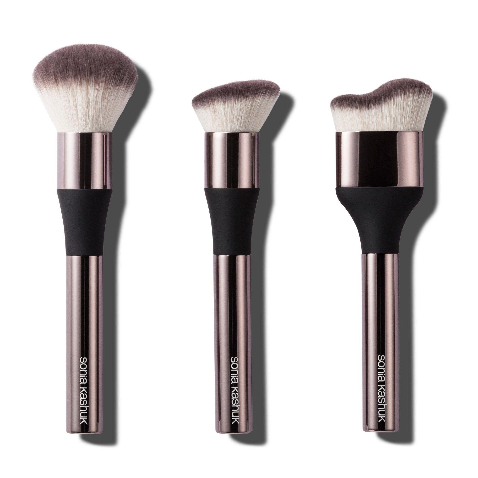 Sonia Kashuk Limited Edition 3pc Gilded Brush Set Target