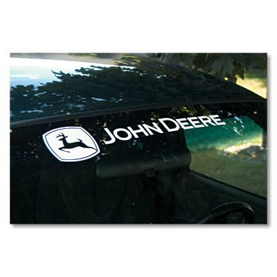John deere large car window decal greentoys4u com