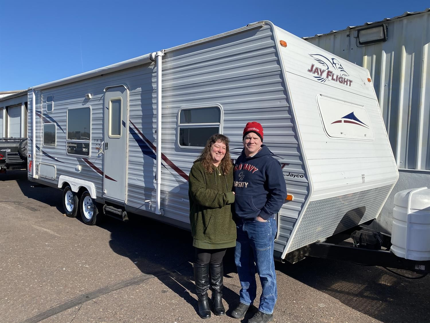 Shawn And Marianne Wishing You Many Miles Of Smiles And Congratulations On Your 2006 Jayco Jay Flight All The Best F In 2020 Jayco Recreational Vehicles Vehicles