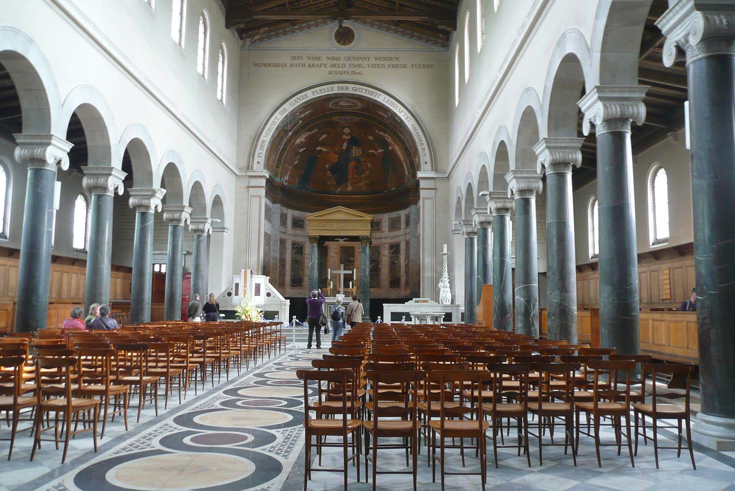 Friedenskirche Potsdam, das Kirchenschiff