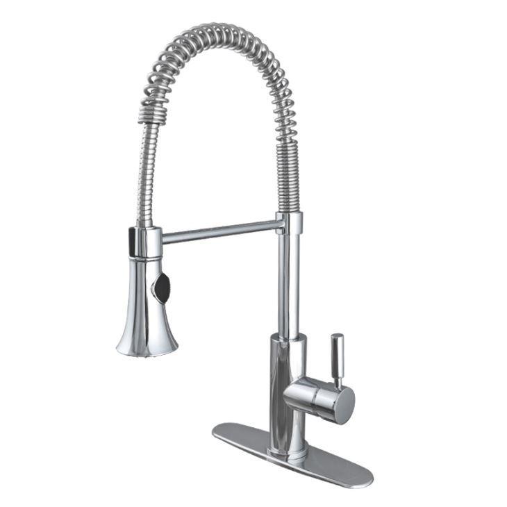 Single Handle Chrome Restaurant Style Kitchen Faucets With ...