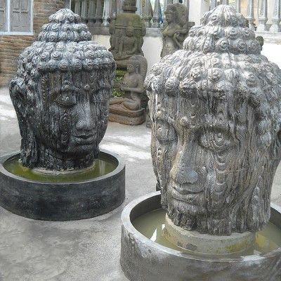 Large Buddha Water Fountain Resin Water Fountain Fountain Buddha