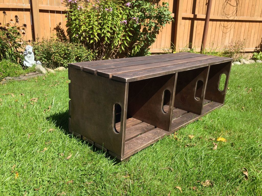 The Crate Bench Crate Bench Diy Bench Seat Diy Wooden