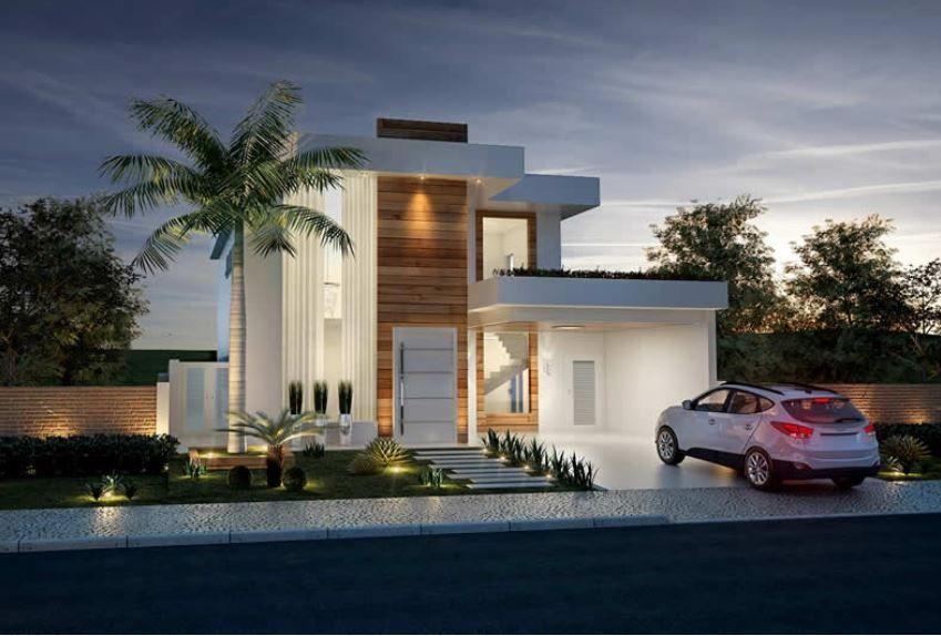 Home Design 12x30 Meters 4 Bedrooms Home Ideas Modern House Facades Dream House Decor Dream House Interior