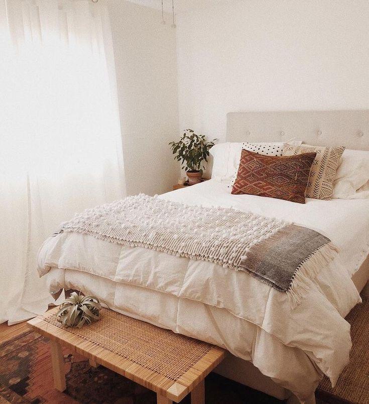 modern bedroom inspiration | simple room decor home inspo #minimalbedroom