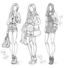 Resultado De Imagem Para Desenhos De 3 Amigas Desenho De Moda Ideias Esboco Desenhos De Moda