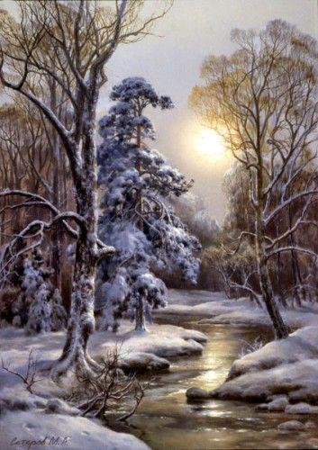 2 25 paysage hiver - Paysage enneige dessin ...