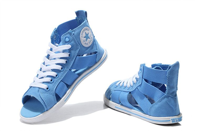 4a0d0122fda1 Converse Open Toe Elastic Band Summer Light Blue All Star Roman Sandals   converse  shoes