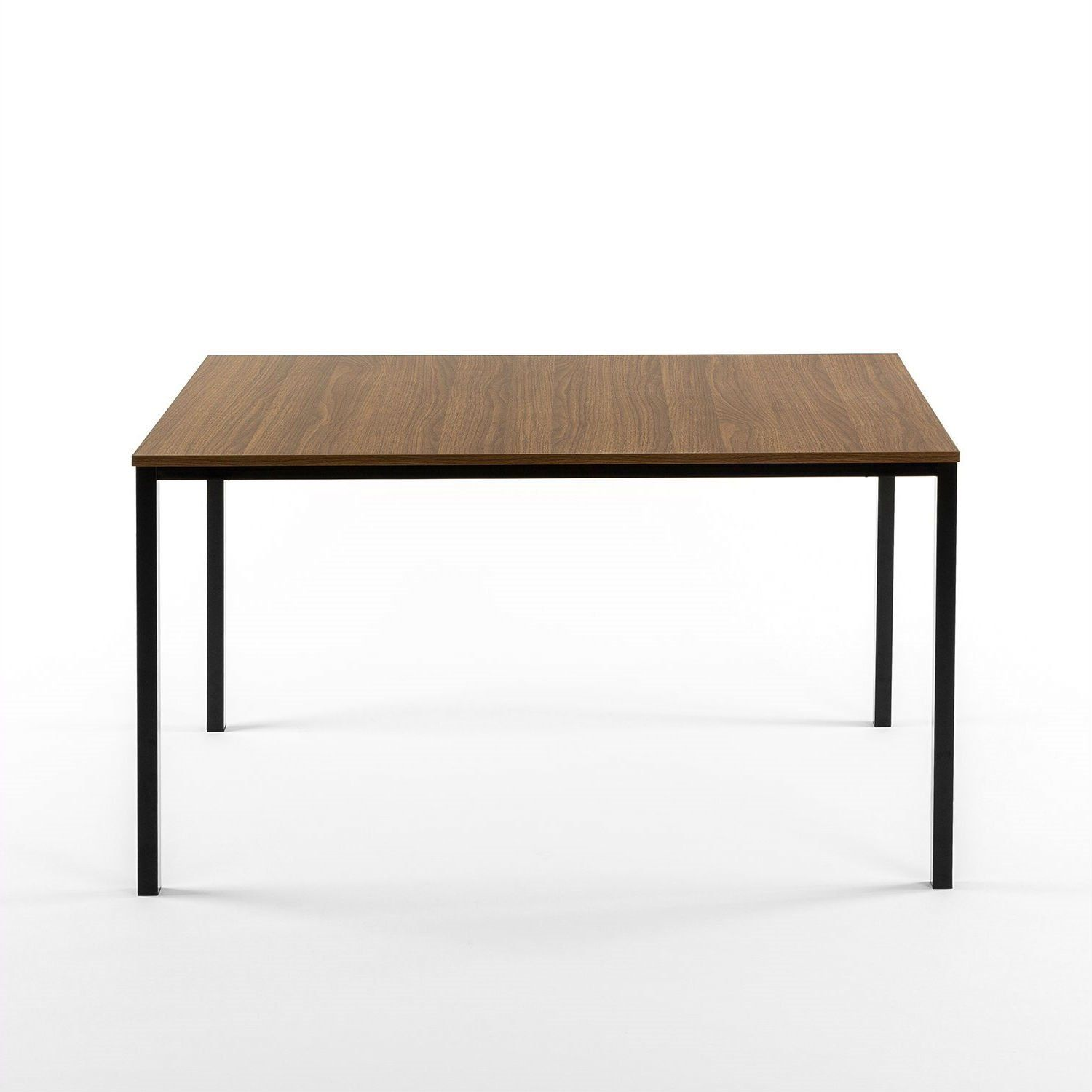 Modern 48 X 30 Inch Steel Frame Dining Table With Wood Grain Top In 2021 Dining Table Timeless Dining Table Solid Wood Dining Table